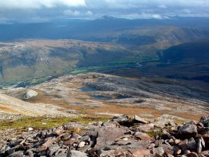 View from Meall a' Ghubhais towards Kinlochewe